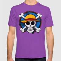 On pirate Mens Fitted Tee Ultraviolet SMALL