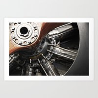 Airplane motor Art Print