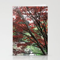 Red Japanese Maple Tree … Stationery Cards