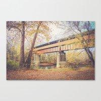 Ohio's Longest Covered B… Canvas Print