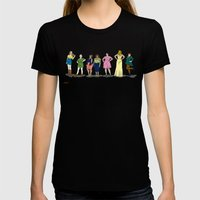 Fashion Line Up Womens Fitted Tee Black SMALL