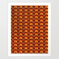 Woven Pixels I Art Print