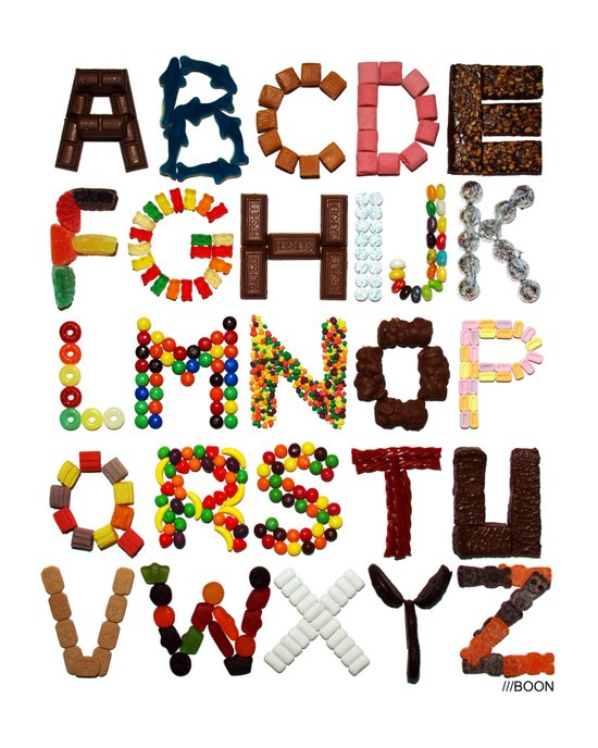 Candy Alphabet Art Print