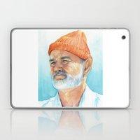 Steve Zissou Art | Watercolor Portrait Laptop & iPad Skin