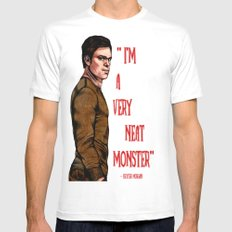 Dexter Morgan White SMALL Mens Fitted Tee
