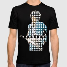 God and dots Mens Fitted Tee Black SMALL