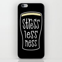 a pint of stout: stresslessness iPhone & iPod Skin