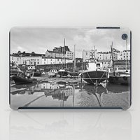 Tenby Harbour Boats.Pembrokeshire.B+W. iPad Case