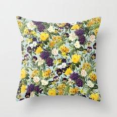 Floral C Throw Pillow