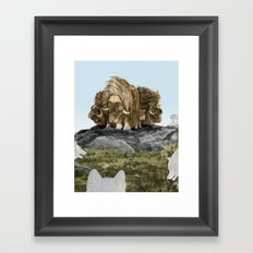 The Wolves Are Closing In Framed Art Print