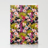 tropical lilly Stationery Cards