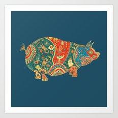 Painted Pig Art Print