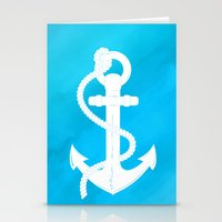 White Anchor Stationery Cards