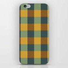 Pixel Plaid - Winter Walk iPhone & iPod Skin