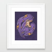 Electric Rodeo Framed Art Print