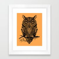 Warrior Owl 2 Framed Art Print
