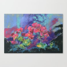 Geraniums, Geranium painting, pink geraniums, flower painting Canvas Print