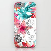 iPhone Cases featuring TROPICAL GARDEN by Monika Strigel