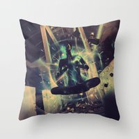 Power Trip Throw Pillow