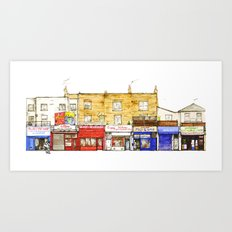 Chalk Farm Road 56-51A/Camden, London Art Print