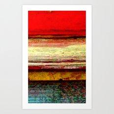 Sunset in Bali Art Print