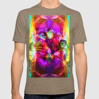 Crystal Cat - Sir Parker Mens Fitted Tee Tri-Coffee SMALL