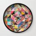Grandma's Quilt Wall Clock