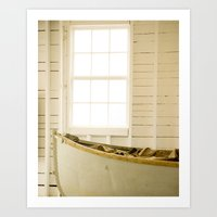 Boathouse Nautical Vinta… Art Print