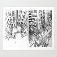 Bloc Art Print