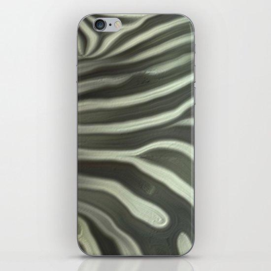 Zebra grazing iPhone & iPod Skin