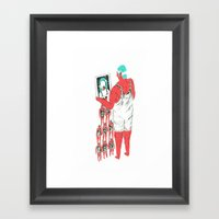 Rebound Girls Framed Art Print