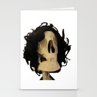 skeleton Stationery Cards featuring skeleton by Francesco Mestria