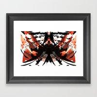 Rorschach Samurai Framed Art Print