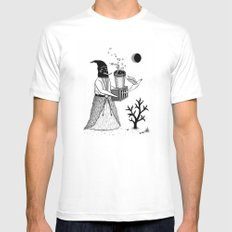 Harbinger of Anxiety SMALL White Mens Fitted Tee