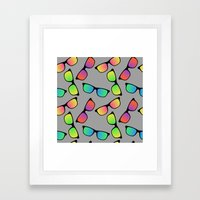 Sunglasses Pattern Framed Art Print