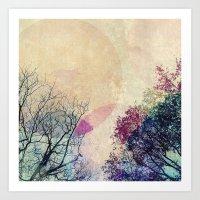 2 Trees Art Print