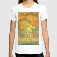Birch 2 Womens Fitted Tee White SMALL
