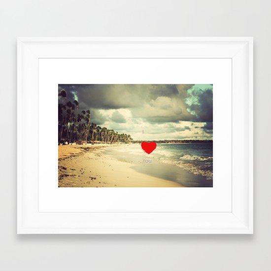 I ♥ You Framed Art Print