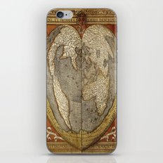 Heart-shaped projection map by Oronce Fine, 16th century iPhone & iPod Skin