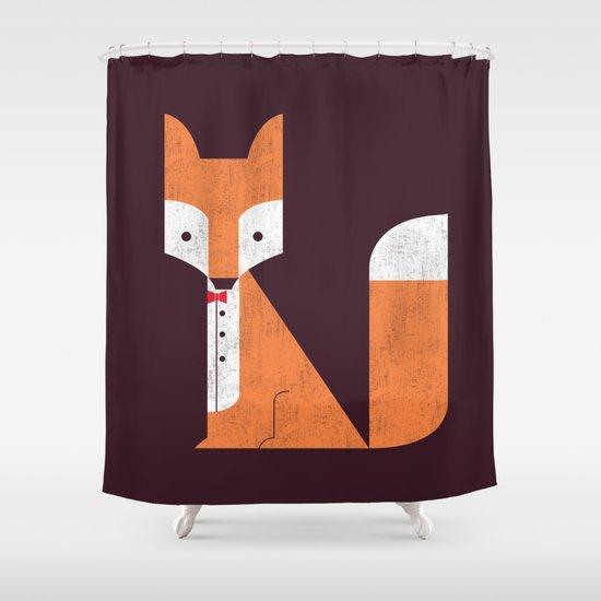 Le Sly Fox Shower Curtain