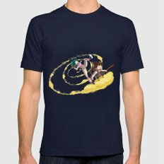 A ride with Son Goku SMALL Navy Mens Fitted Tee