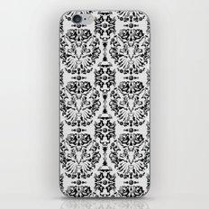 Cat Damask (Black&White) iPhone & iPod Skin