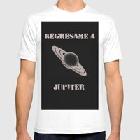 Regresame A Jupiter Mens Fitted Tee White SMALL