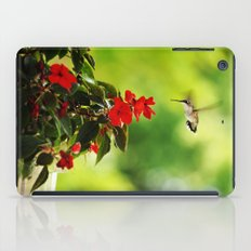 Hummingbird at the Flowers iPad Case