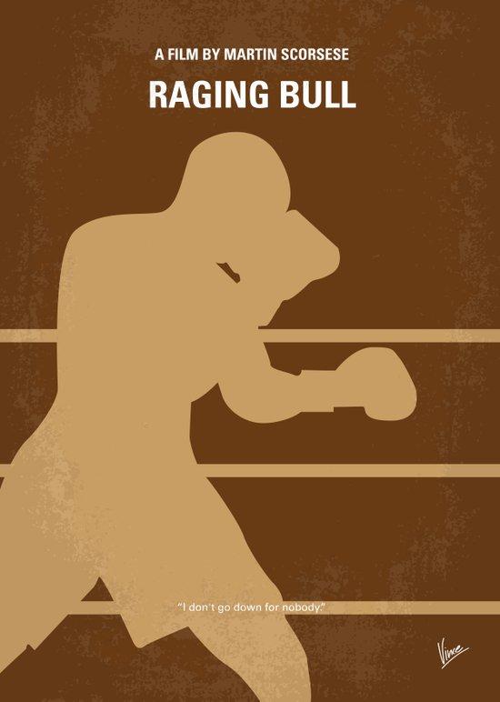 No174 My Raging Bull minimal movie poster Art Print
