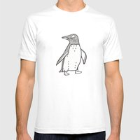 lil penguin Mens Fitted Tee White SMALL