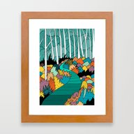 Into The Forest Framed Art Print