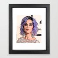 Lavender Hair  Framed Art Print