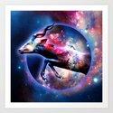 Galactic jump Art Print