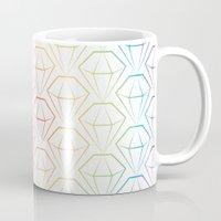 Rainbow Emeralds Pattern Mug